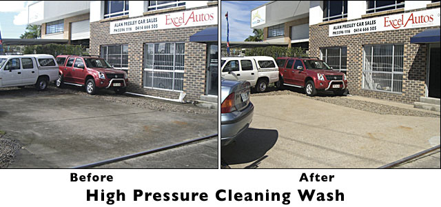 Concrete cleaning Canberra before and after