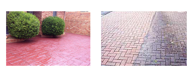 concrete cleaning colouring sealing examples